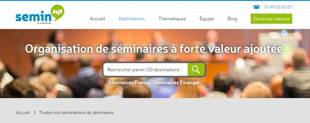 Semin'Up séminaire incentive