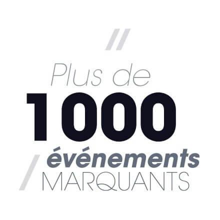 Plus de 1000 événements marquants