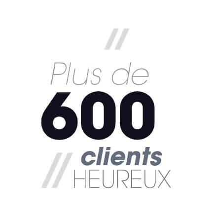 Plus de 600 clients heureux