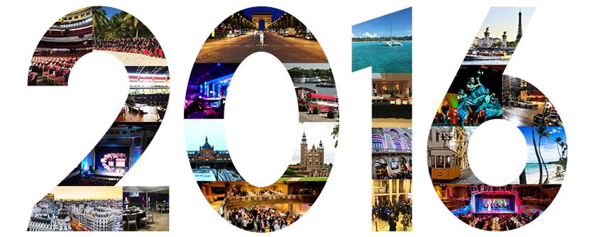 Top événements d'entreprise 2016
