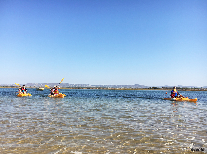 canoe team building portugal